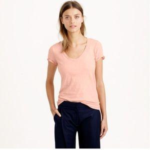 J. Crew Vintage Cotton T-shirt Metallic Blush (M)